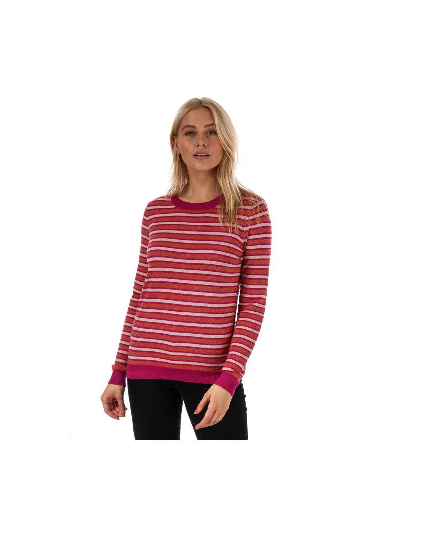 Image for Women's Vero Moda Karis Long Sleeve Stripe Jumper in Pink
