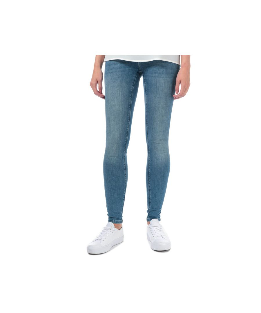 Image for Women's Vero Moda Lux Mid Rise Slim Skinny Jeans in Denim