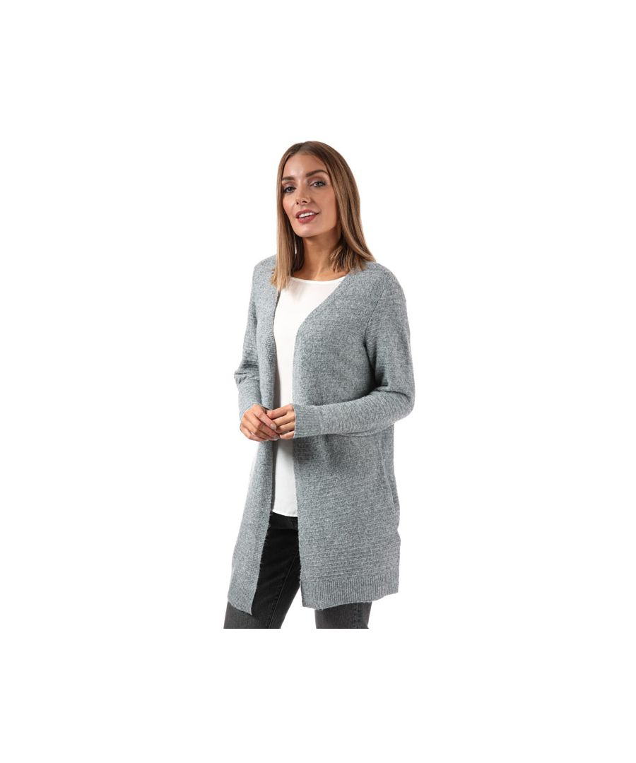 Image for Women's Vero Moda Doffy Long Sleeve Cardigan in Grey Marl