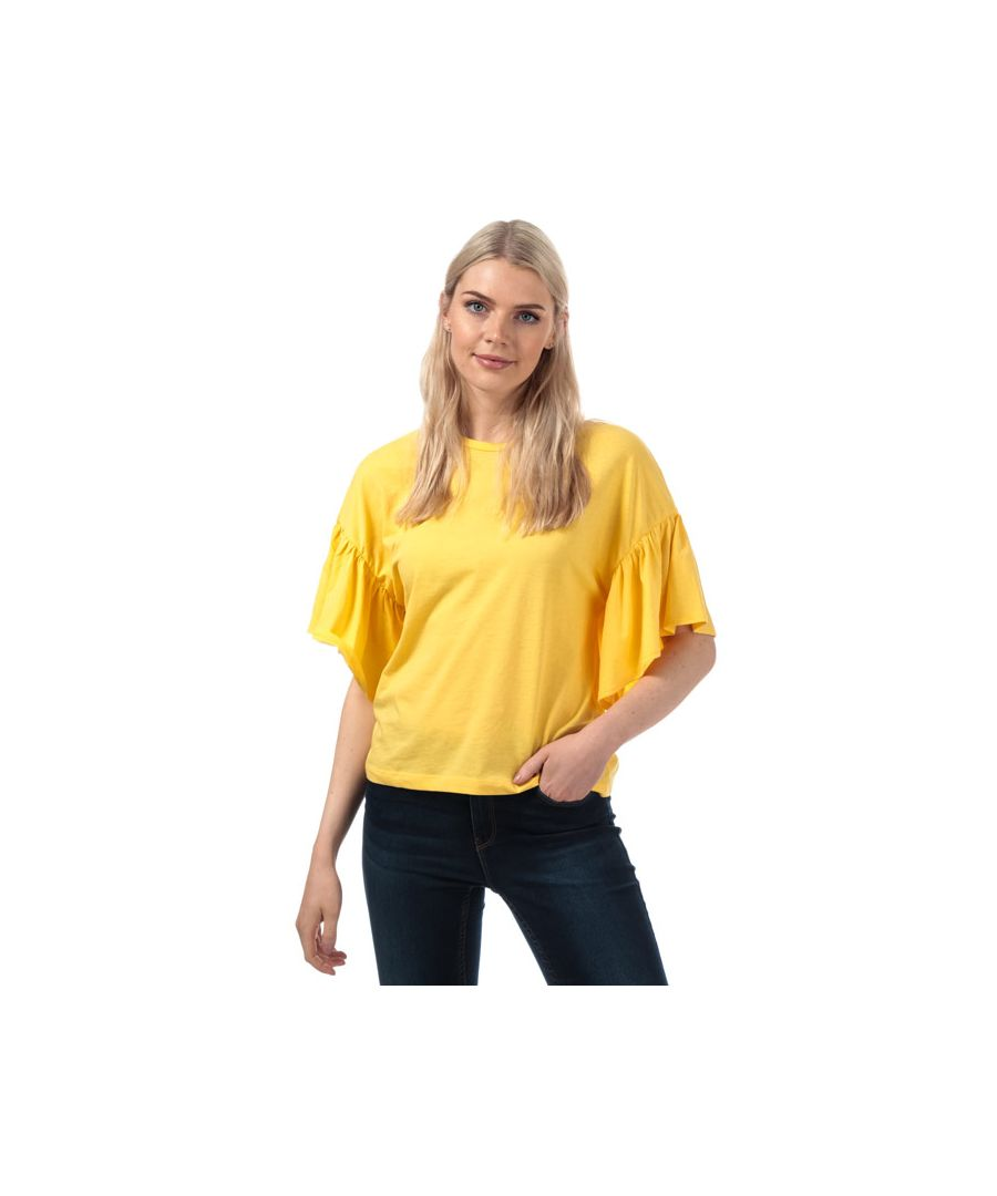 Image for Women's Vero Moda Rebecca Jersey Top in Yellow