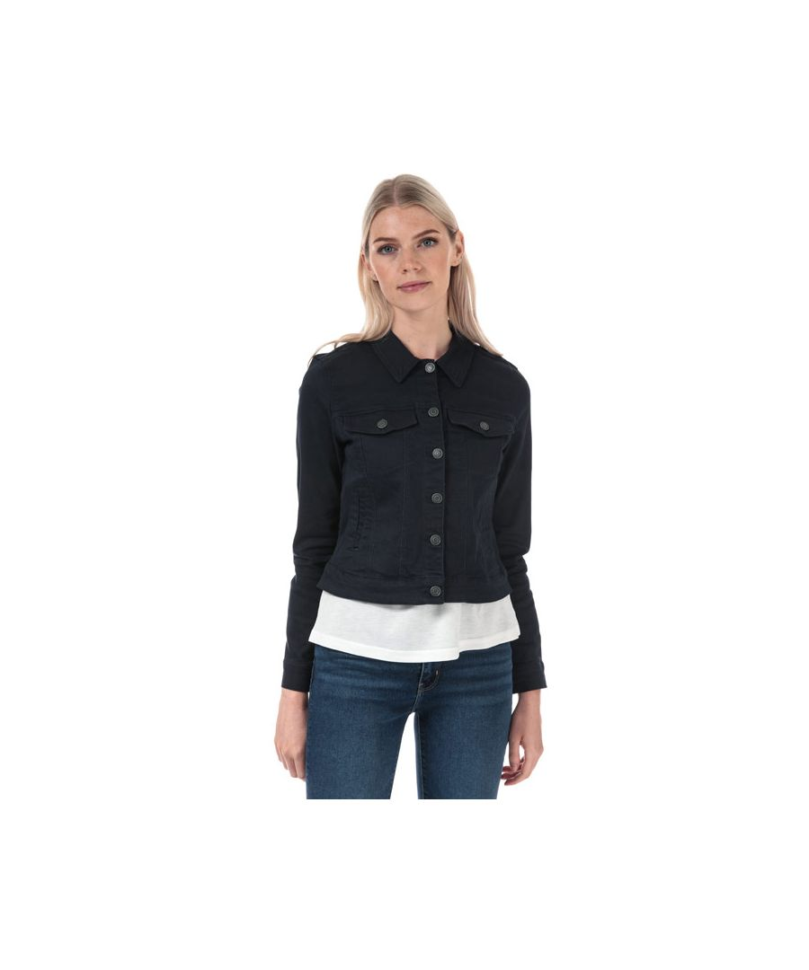 Image for Women's Vero Moda Hot Soya Denim Jacket in Navy