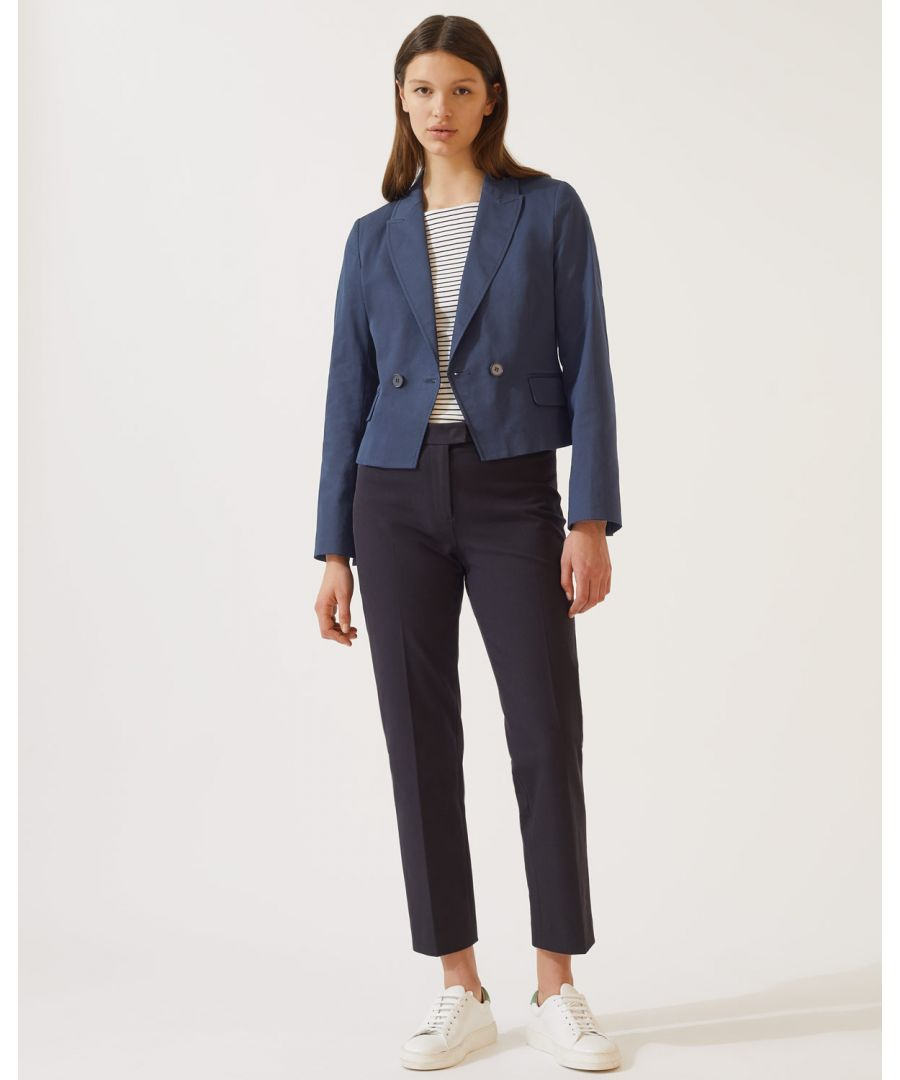 Image for Gabardine Double Breasted Crop Jacket