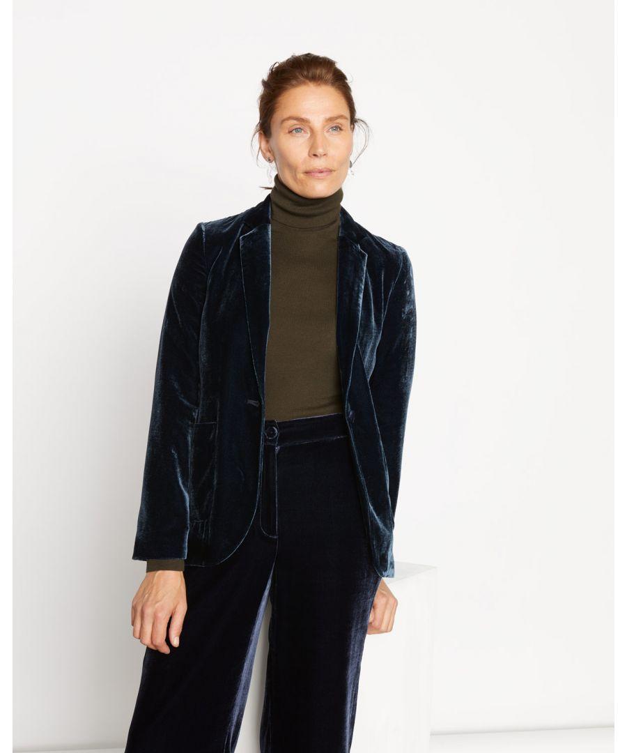 Image for Silk Velvet Blazer