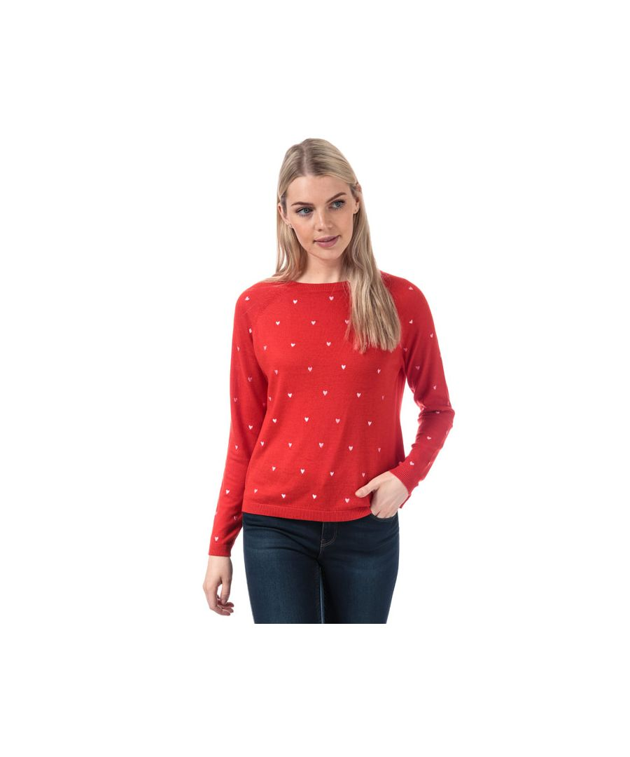 Image for Women's Vero Moda Hera Crew Neck Jumper in Red