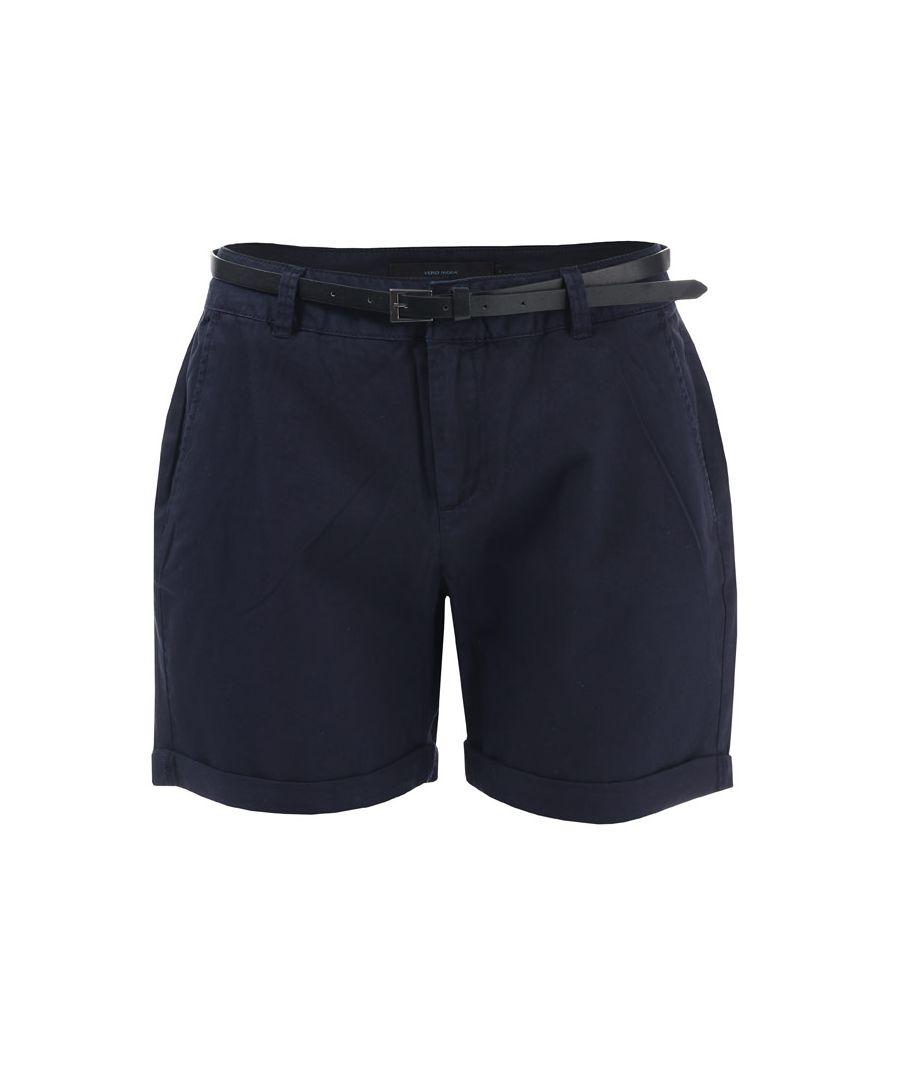 Image for Women's Vero Moda Flash Chino Shorts in Navy