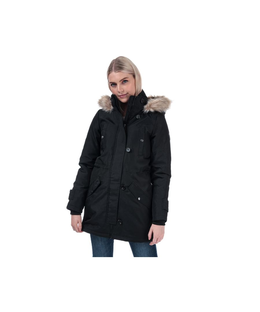 Image for Women's Vero Moda Excursion Expedition Parka Jacket in Black