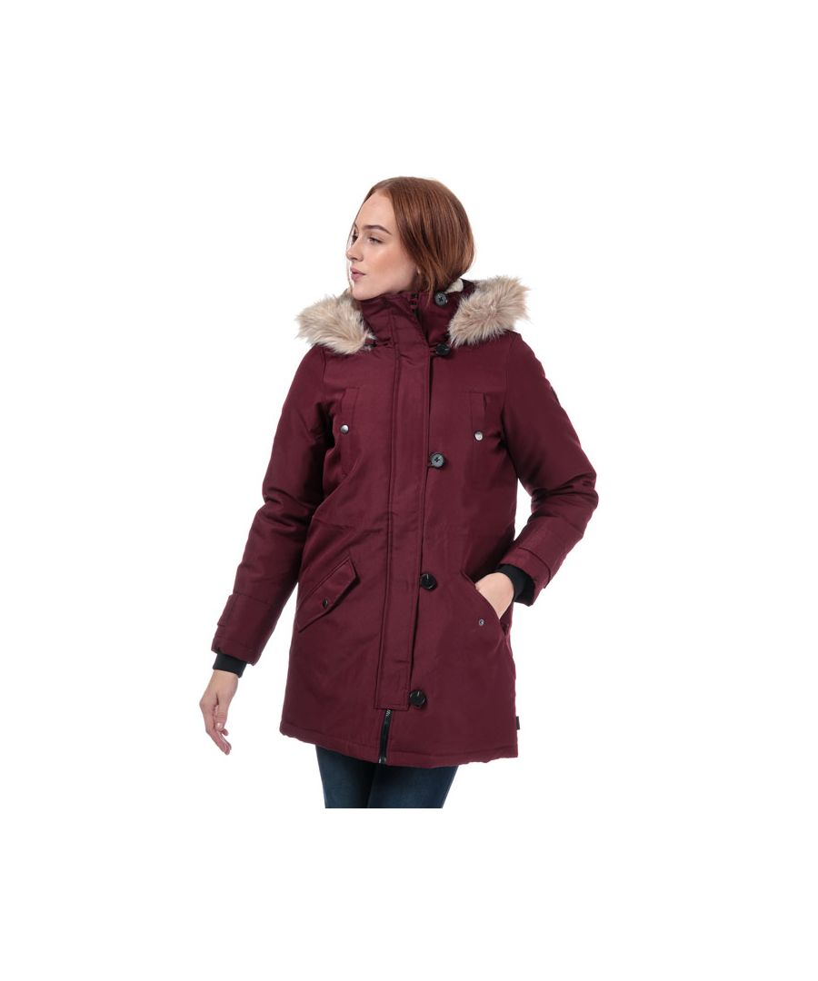 Image for Women's Vero Moda Excursion Expedition Parka Jacket in Port