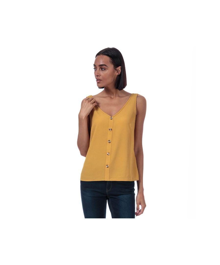 Image for Women's Vero Moda Sasha Button Top in Gold