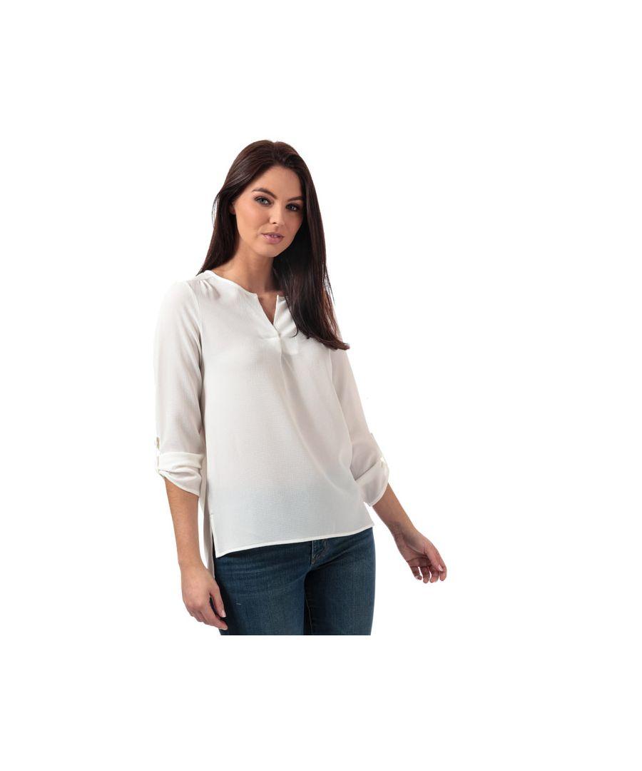 Image for Women's Vero Moda Sasha 3 Quarter Sleeve Top in White