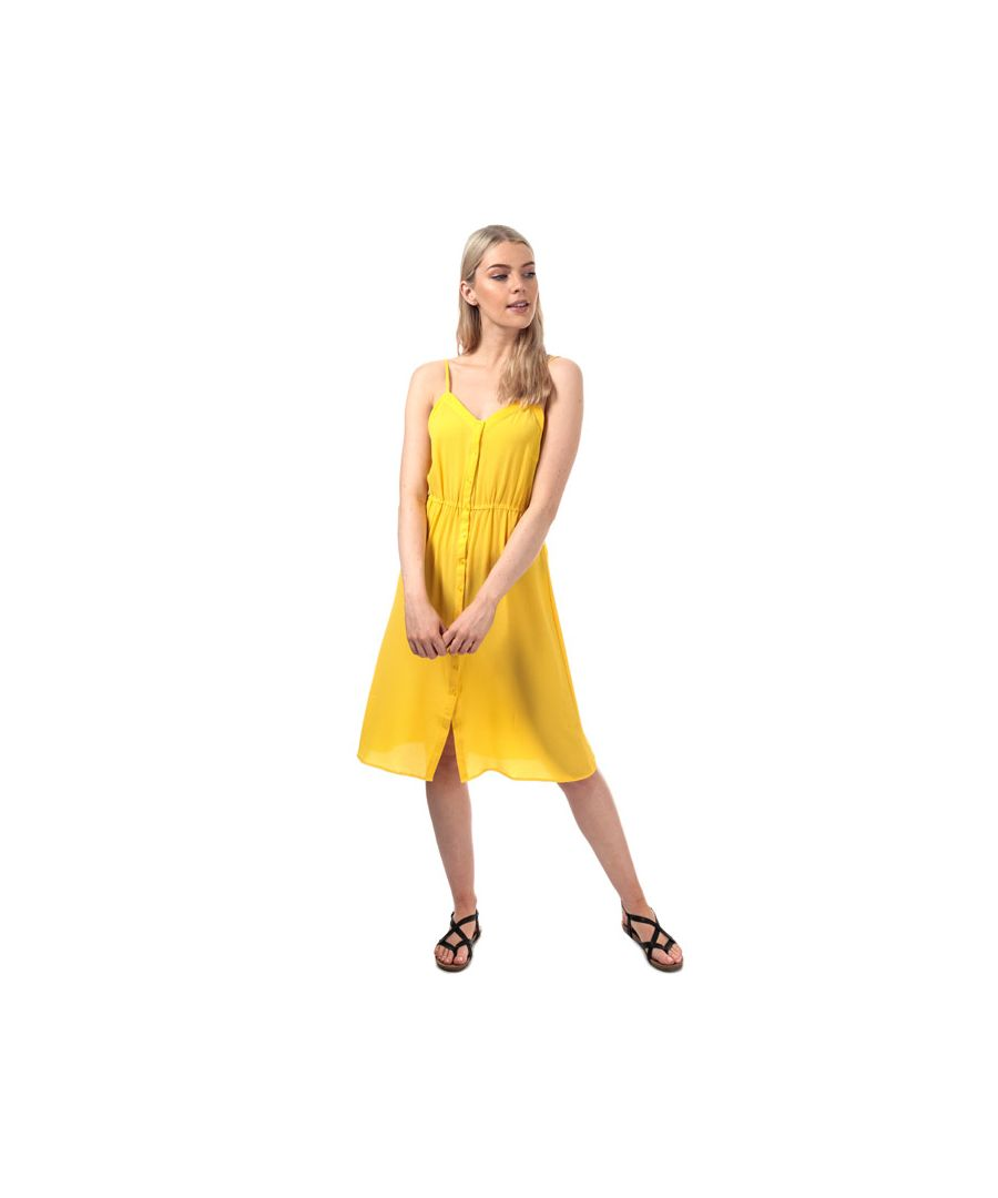 Image for Women's Vero Moda Sasha Midi Dress in Yellow
