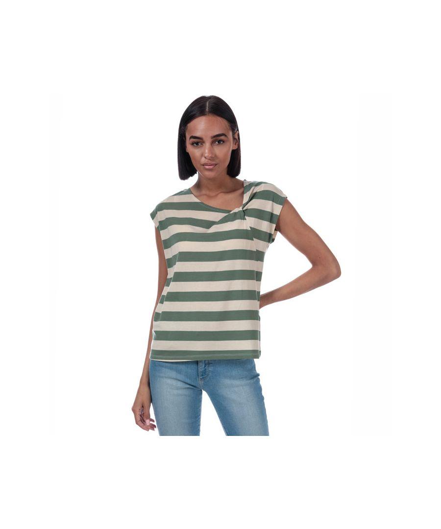Image for Women's Vero Moda Ashlee Striped Jersey T-Shirt in Green