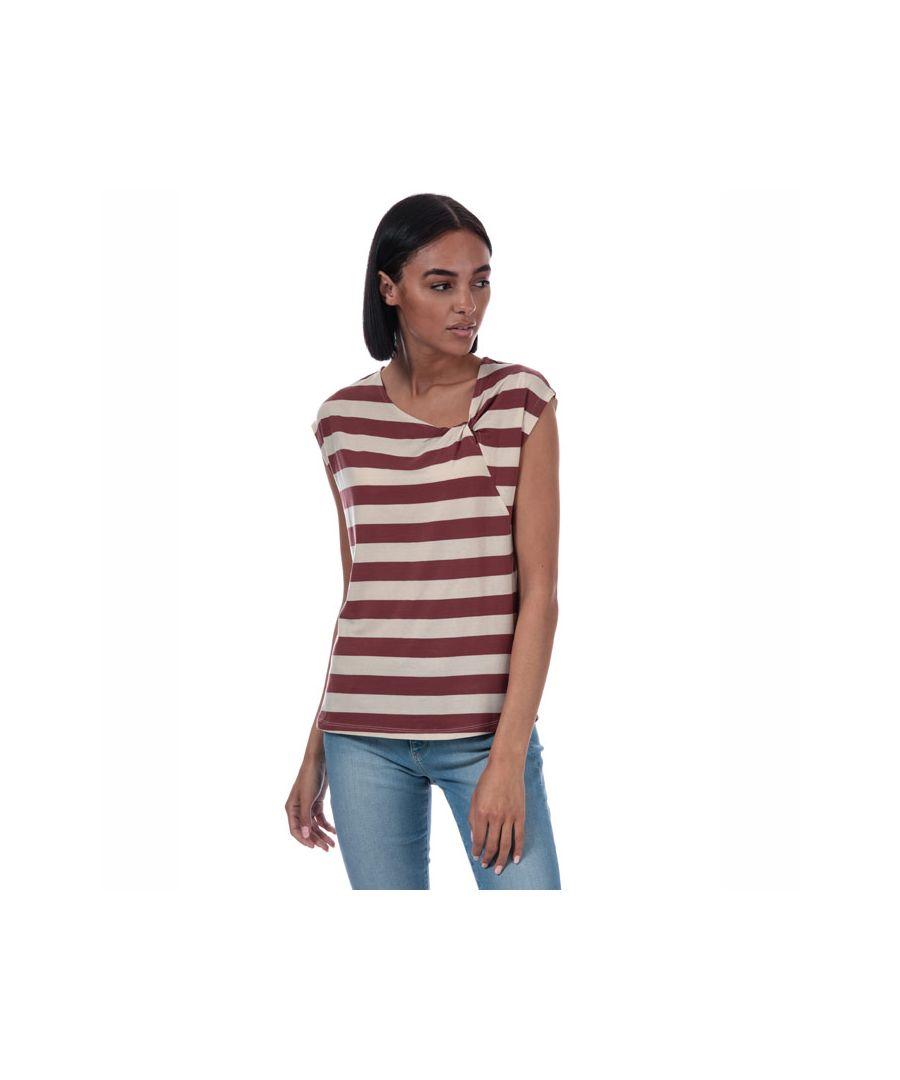 Image for Women's Vero Moda Ashlee Striped Jersey T-Shirt in Rust