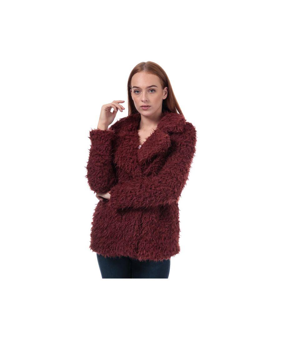 Image for Women's Vero Moda Jayla Miley Faux Fur Jacket in Brown