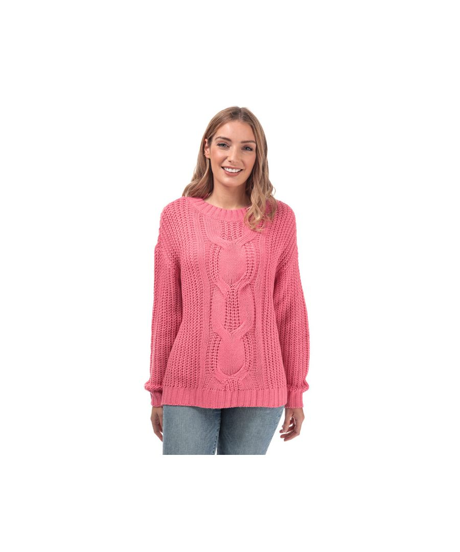 Image for Women's Vero Moda Presley Alpine Cable Knit Jumper in Pink