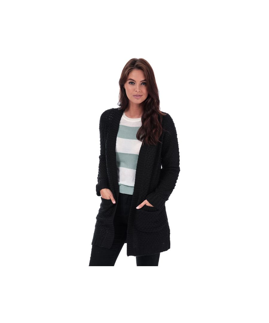 Image for Women's Vero Moda Esme Surf Open Cardigan in Black