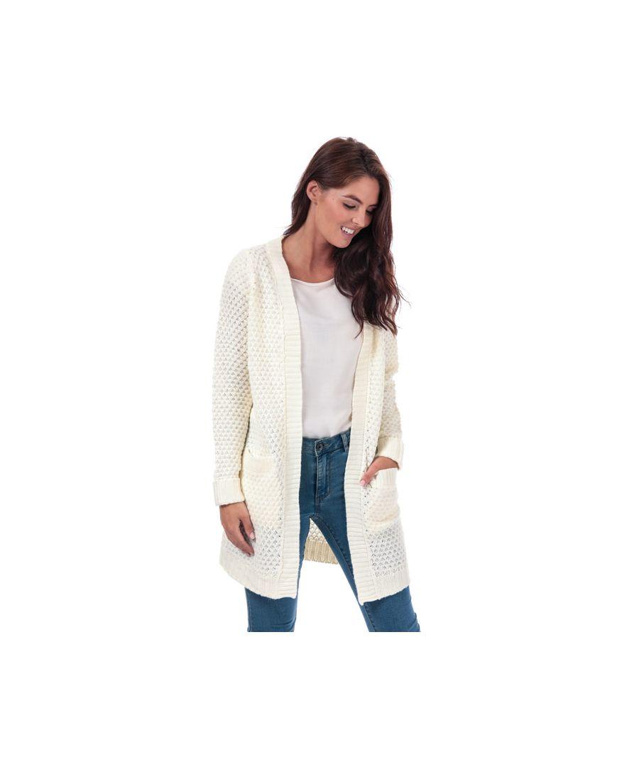 Image for Women's Vero Moda Esme Surf Open Cardigan in White
