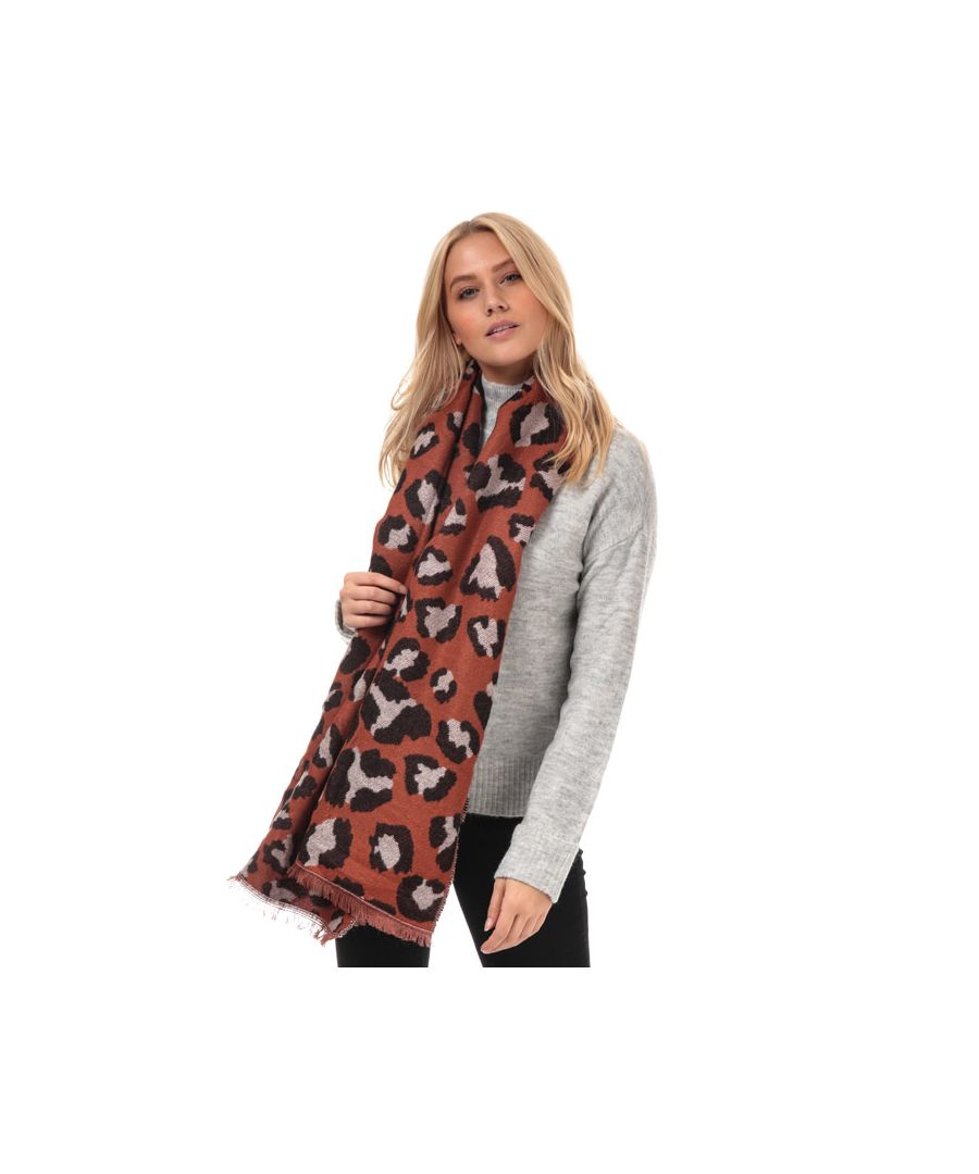 Image for Accessories Vero Moda Novie Leopard Print Scarf in Rust