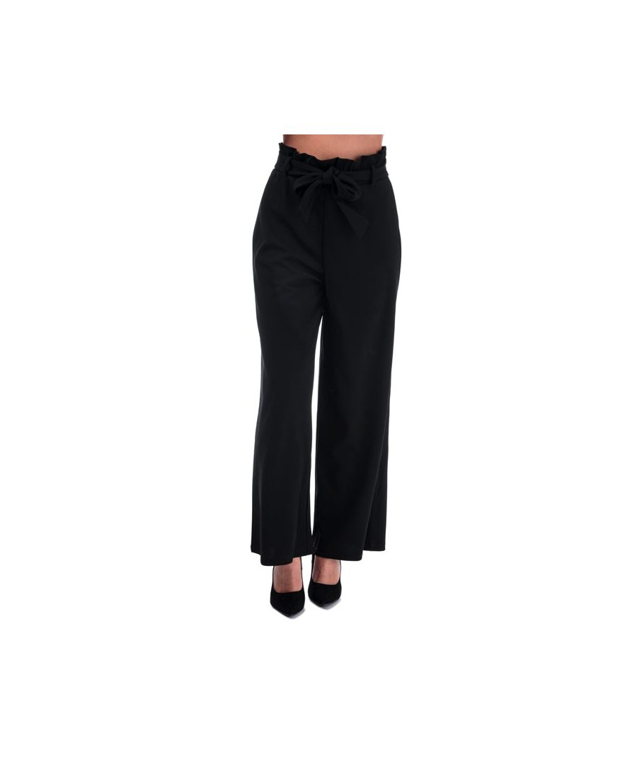 Image for Women's Vero Moda Milla High Rise Paperbag Trousers in Black