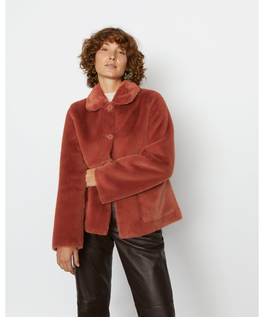 Image for Faux Fur Box Coat