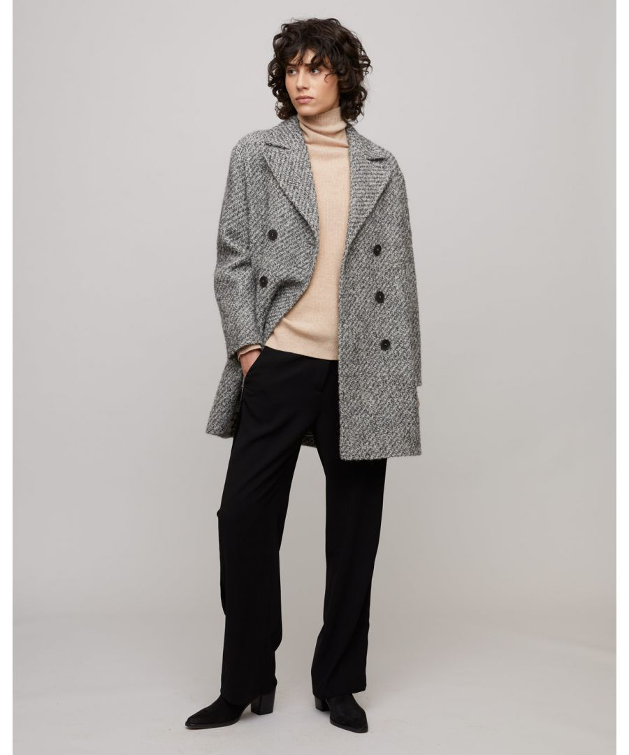 Image for Boucle Oversized Pea Coat