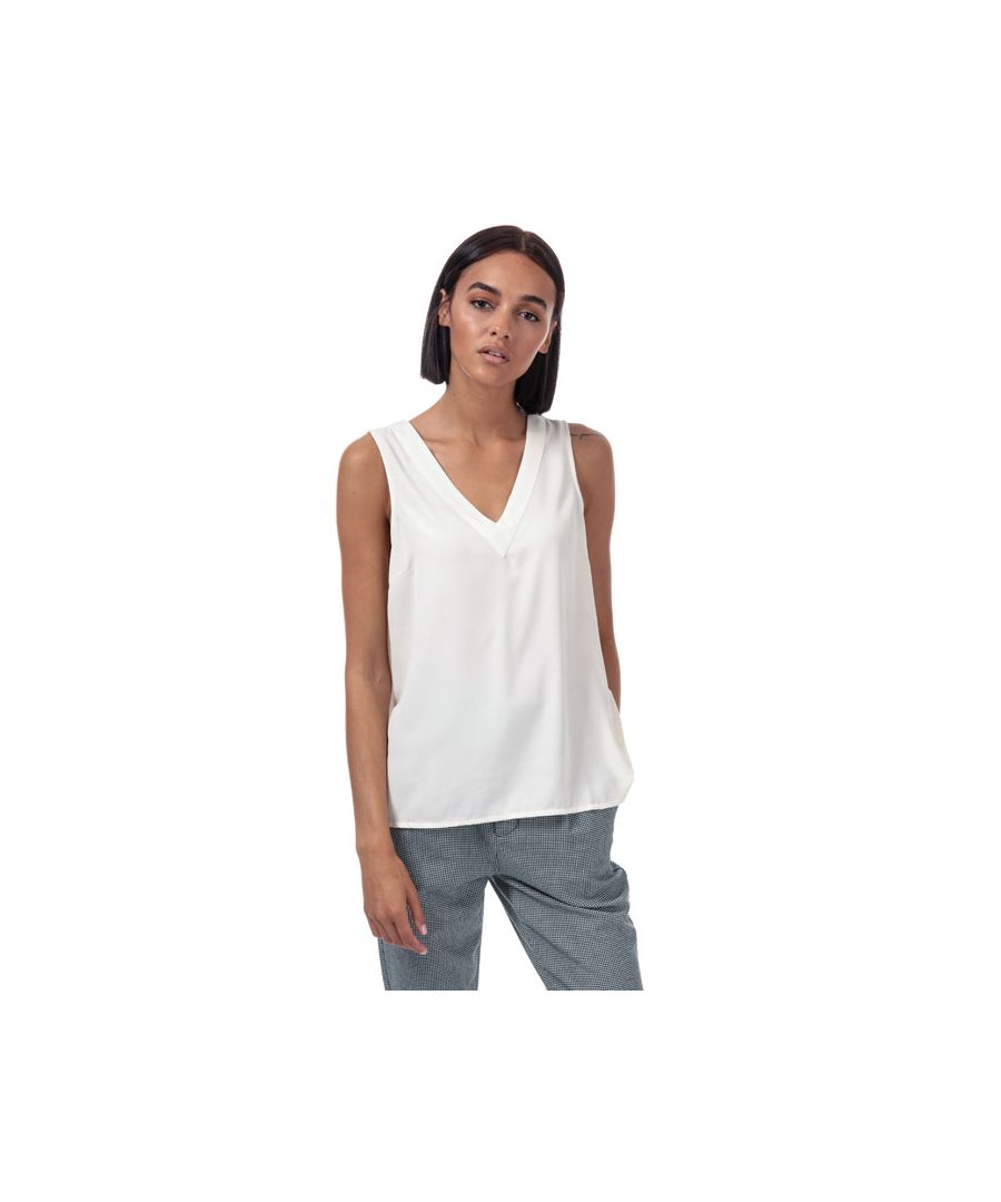 Image for Women's Vero Moda Carola V-Neck Top in Natural