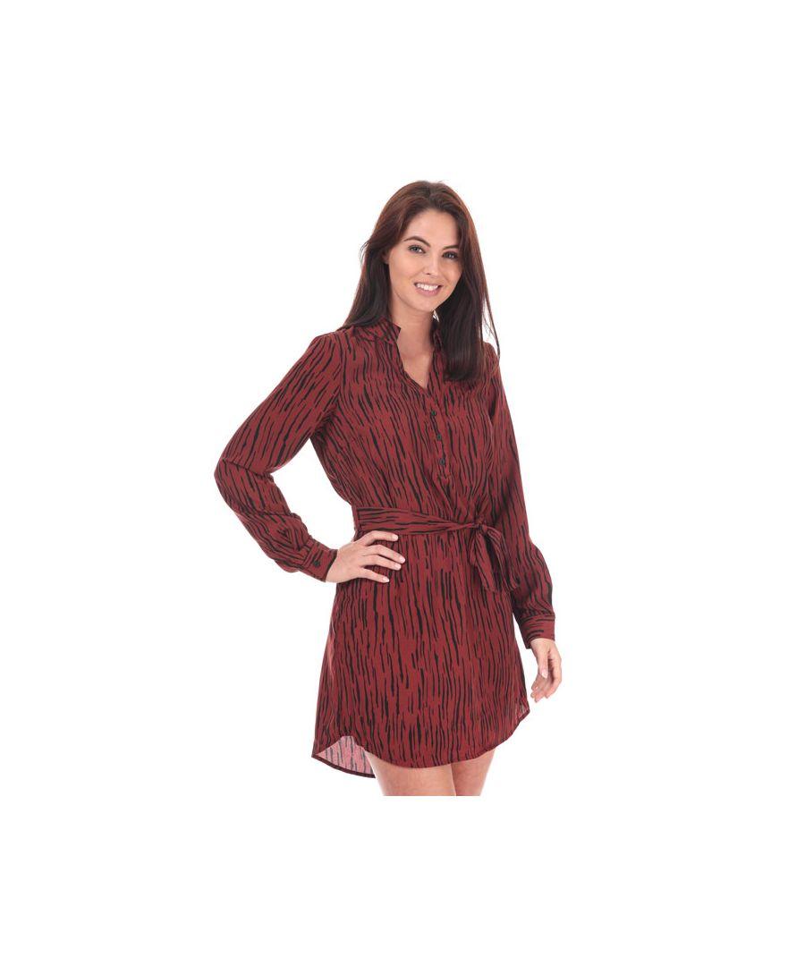 Image for Women's Vero Moda Sine Shirt Dress in Brown