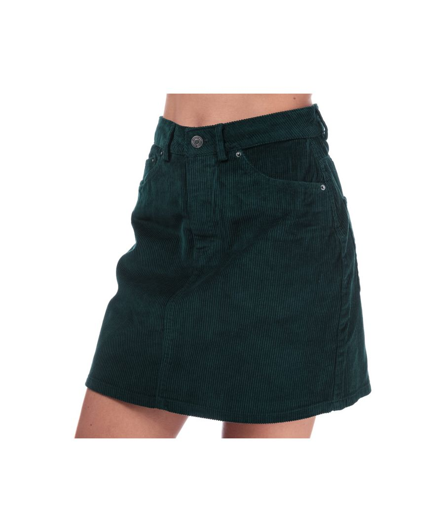 Image for Women's Vero Moda Karina Cord Skirt in Green