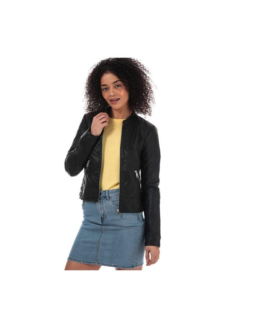 Image for Women's Vero Moda Riamarta Faux Leather Jacket in Black