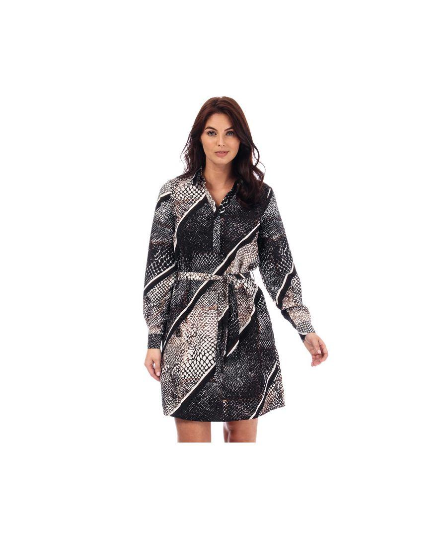 Image for Women's Vero Moda Isolde Stripe Shirt Dress in Black