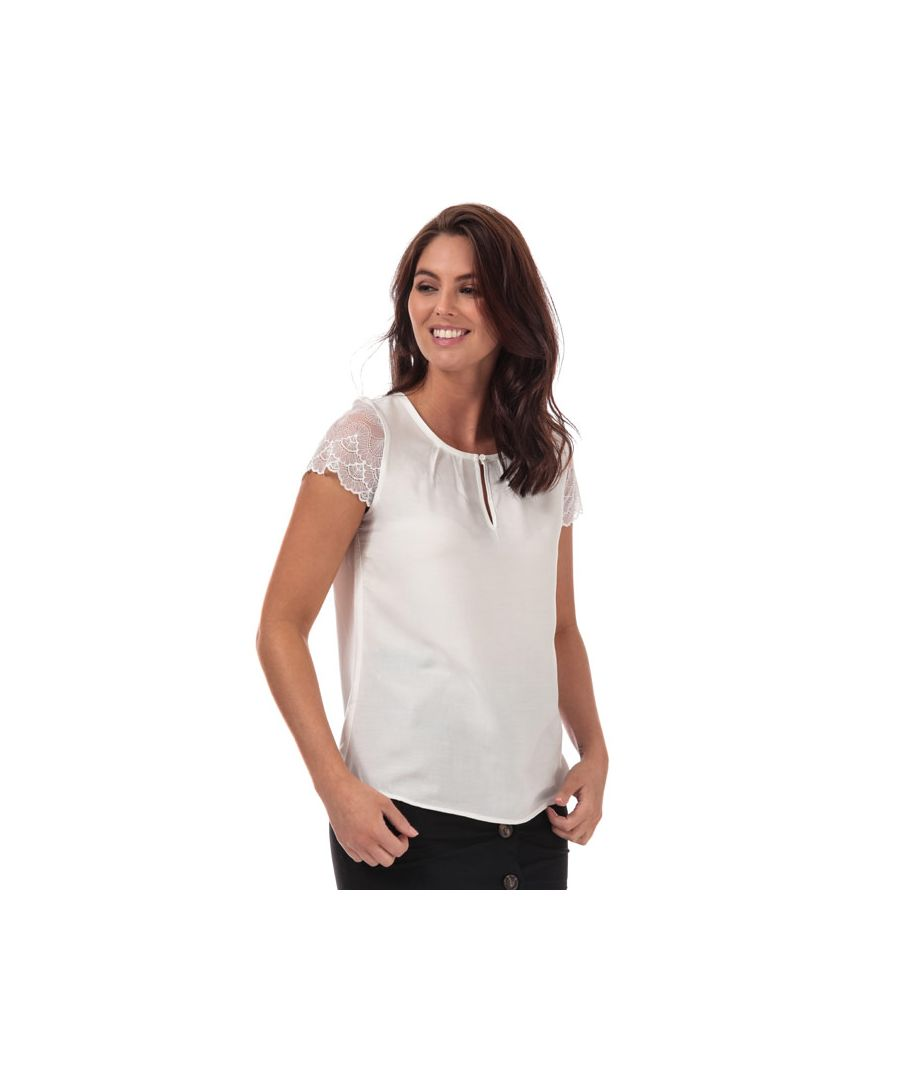 Image for Women's Vero Moda Nina Lace Sleeve Top in White