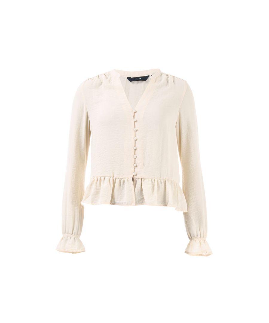 Image for Women's Vero Moda Isabella Mini V-Neck Shirt in Natural