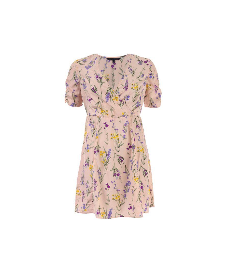 Image for Women's Vero Moda Noomi Short Sleeve Dress in Rose