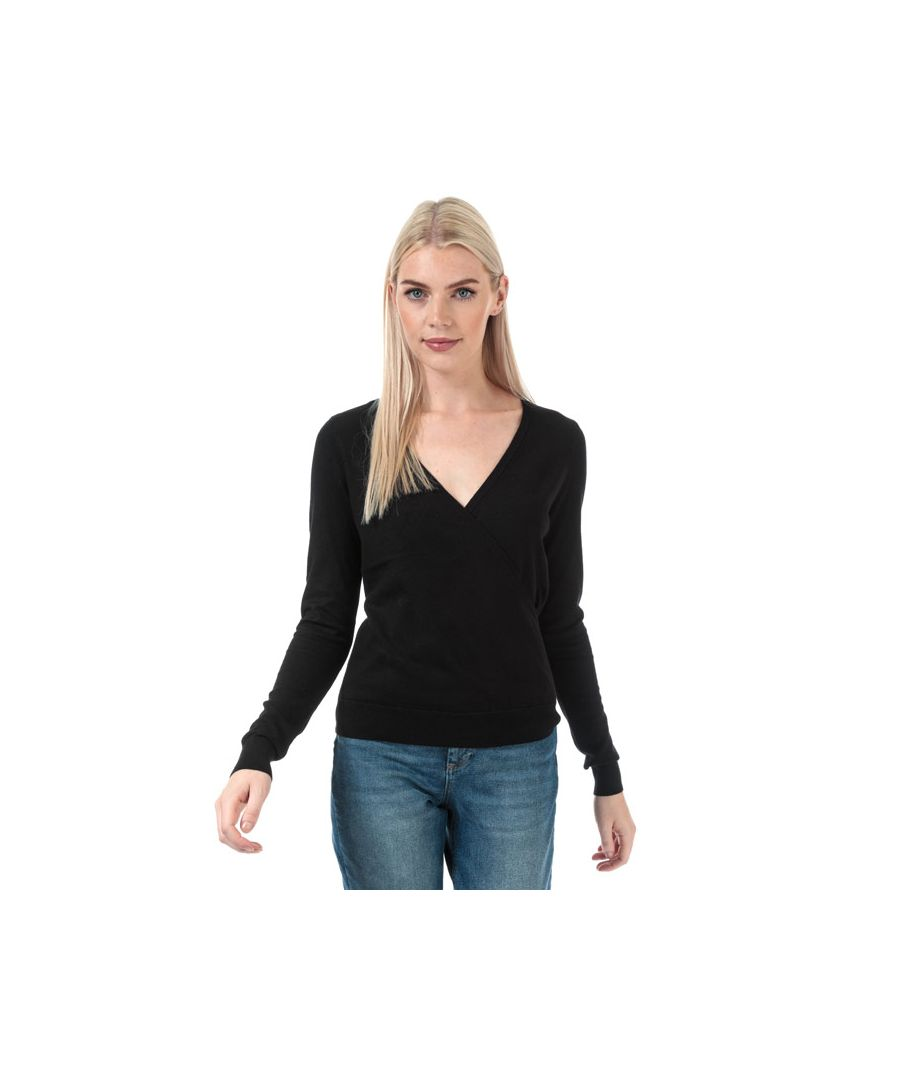 Image for Women's Vero Moda Karisara V-Neck Wrap Jumper in Black