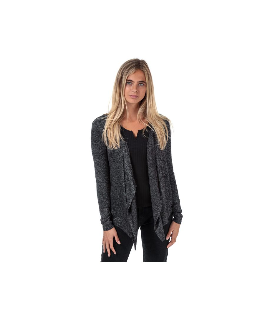 Image for Women's Vero Moda Brianna Drapey Cardigan in Charcoal Marl