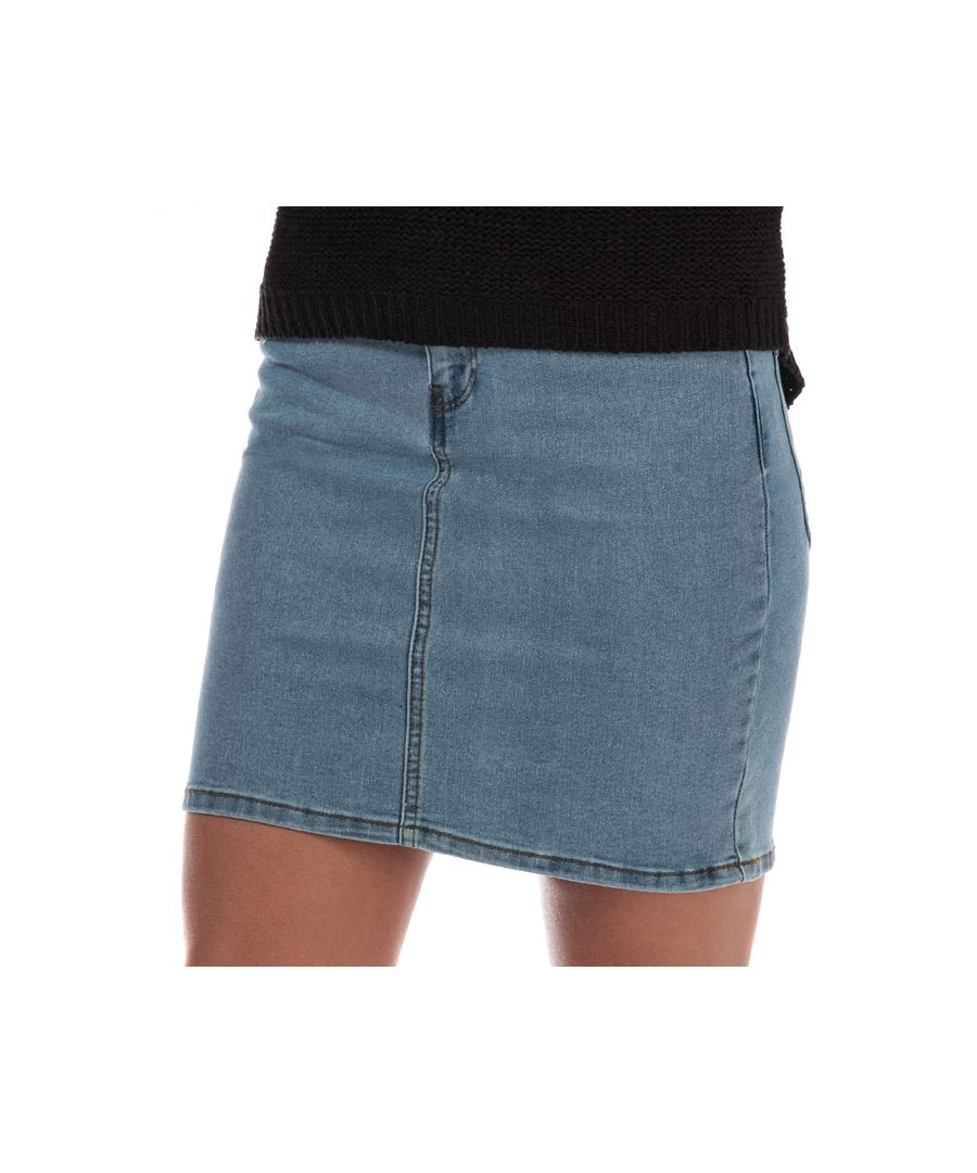Image for Women's Vero Moda Hot Seven Denim Skirt in Light Blue