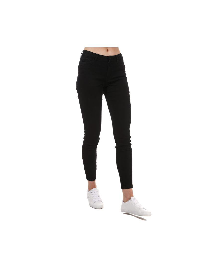 Image for Women's Vero Moda Judy Mid Rise Slim Jeggings Black 8Lin Black