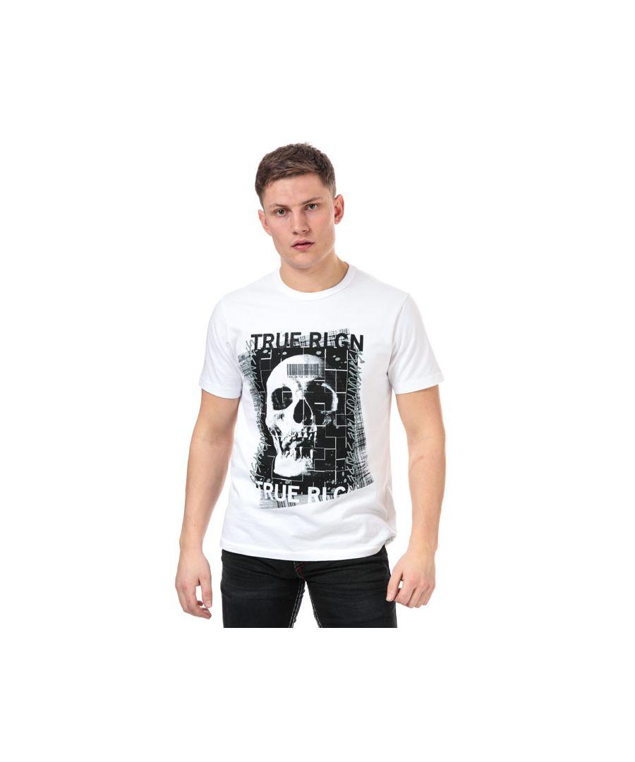 Image for Men's True Religion Embellished Skull T-Shirt in White
