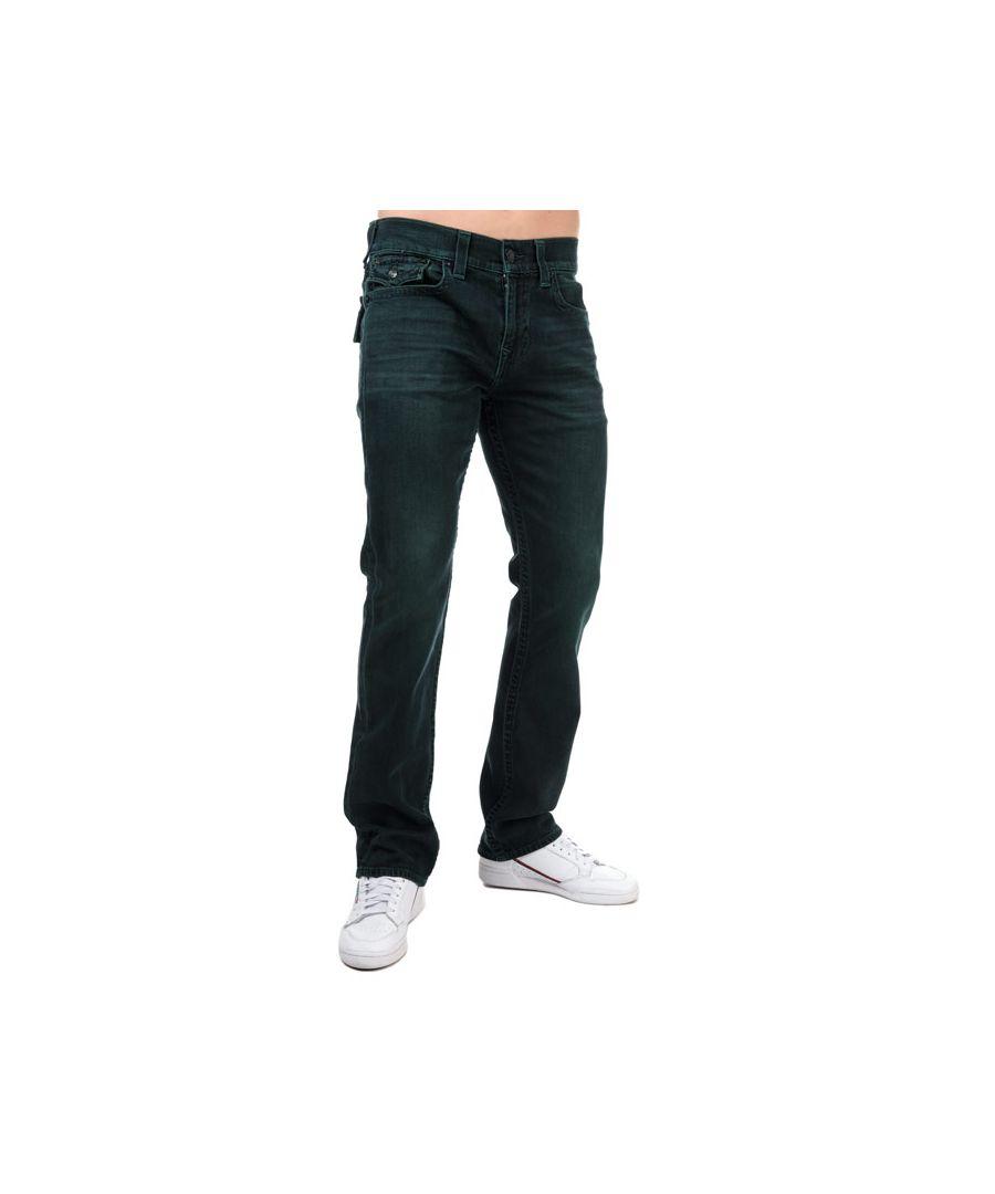 Image for Men's True Religion Ricky Flap SE Straight Jeans in Denim