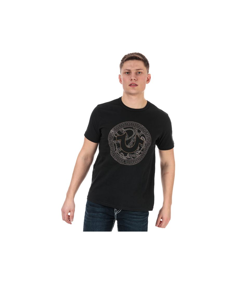 Image for Men's True Religion Branded Logo T-Shirt in Black
