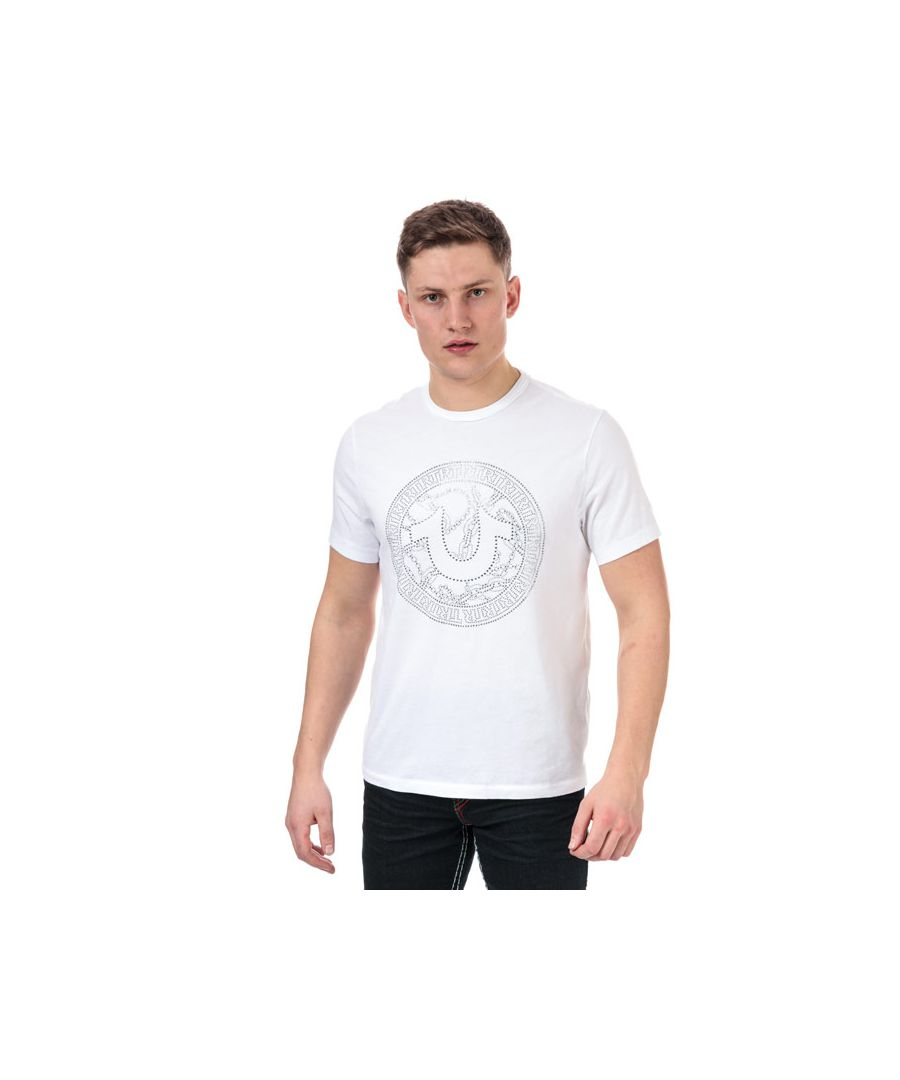 Image for Men's True Religion Branded Logo T-Shirt in White