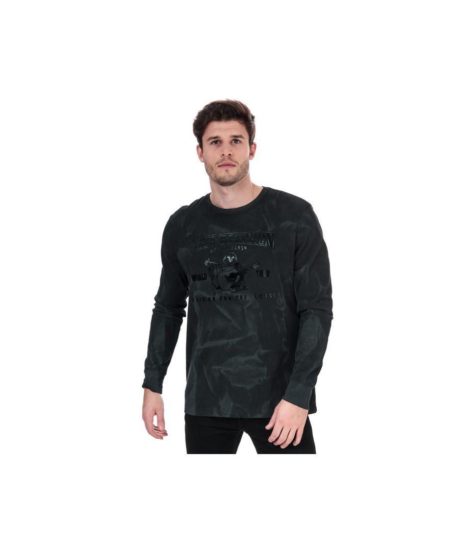 Image for Men's True Religion Seasonal Buddha Long Sleeve T-Shirt in Black