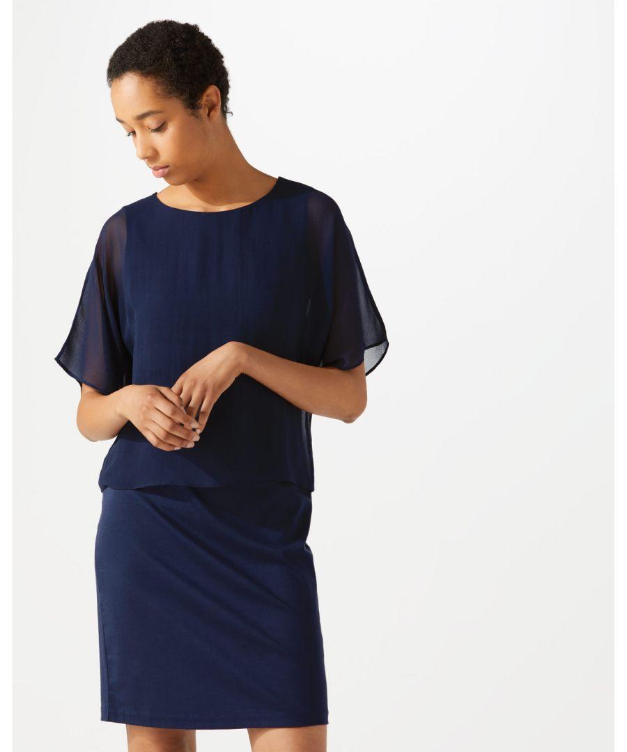 Image for Silk Overlay Dress