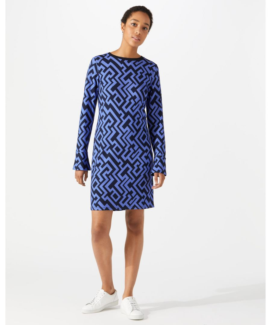 Image for Geo Print Slim Dress