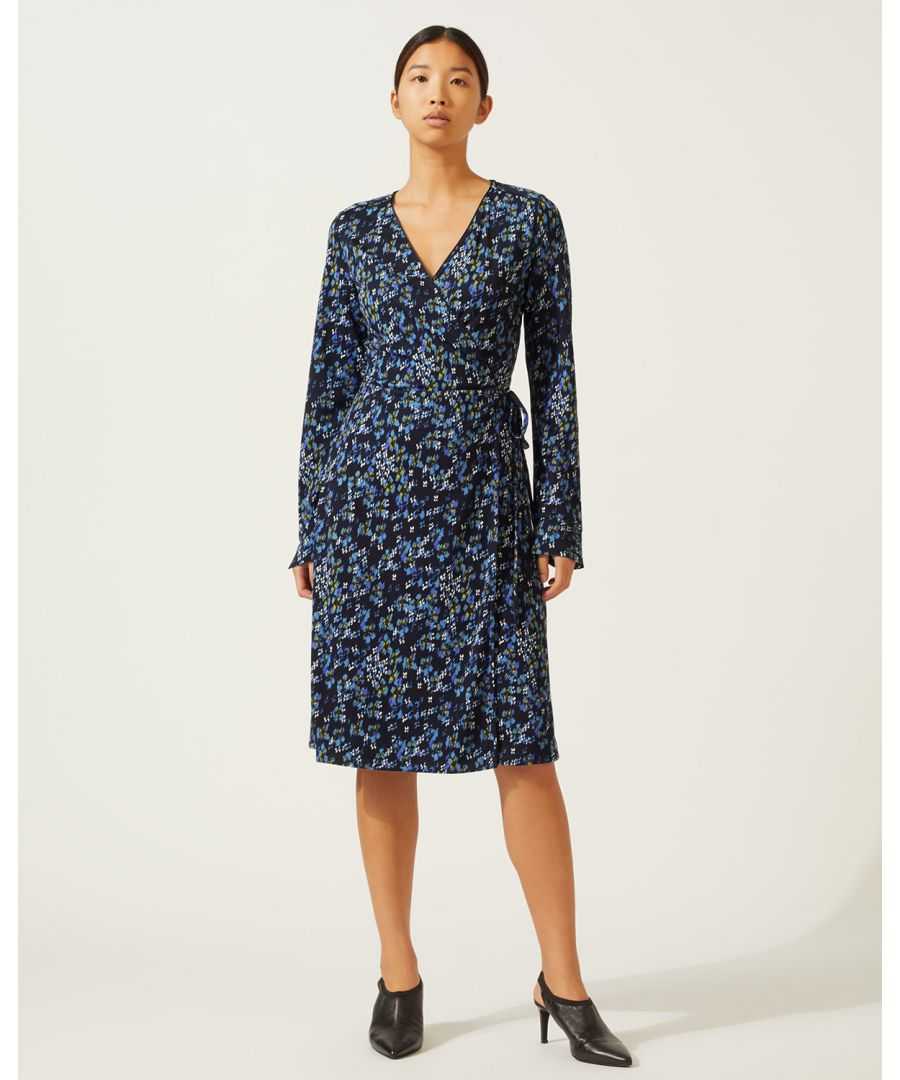 Image for Ikat Floral Wrap Dress