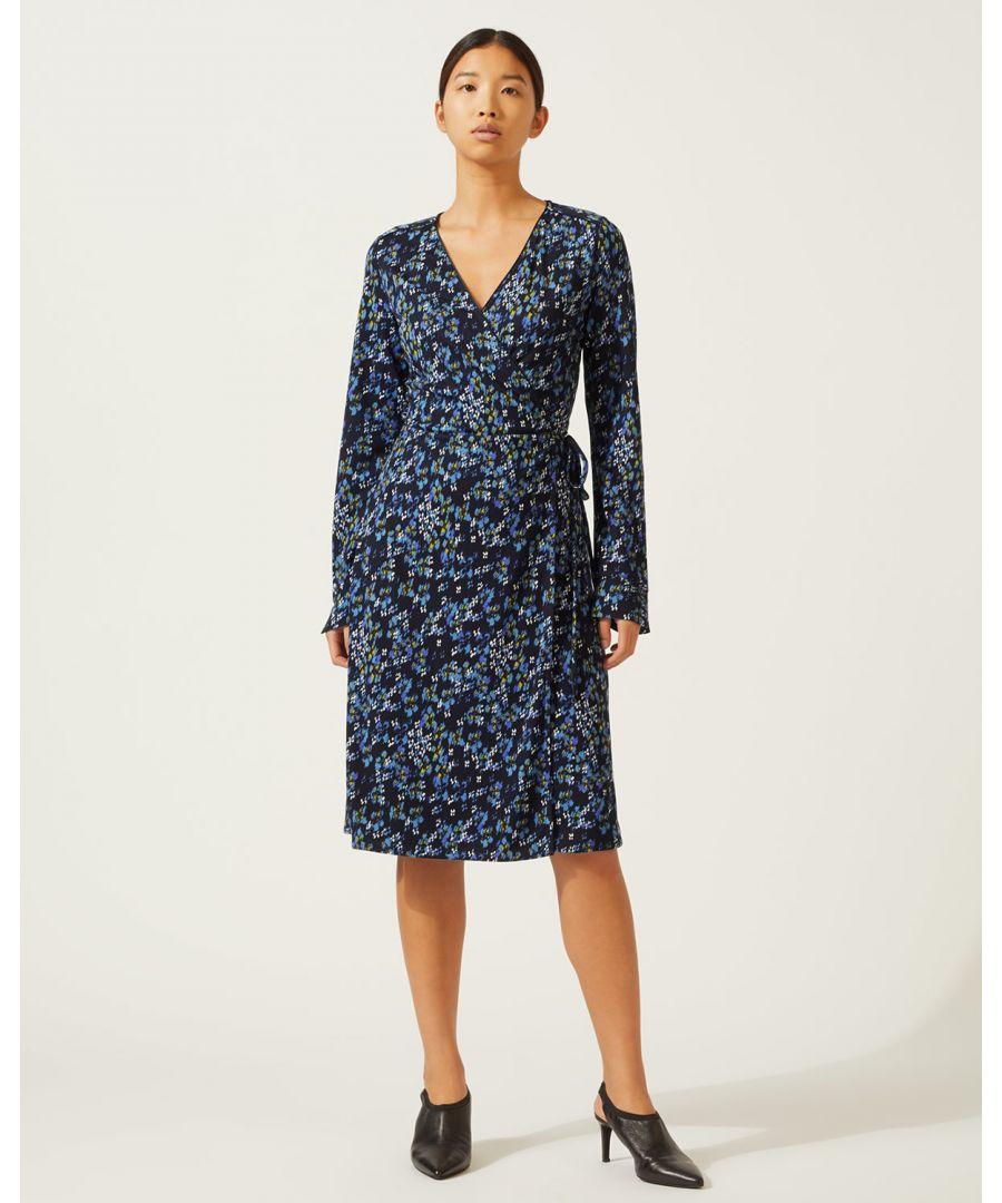 Image for Ikat Floral Wrap Dress