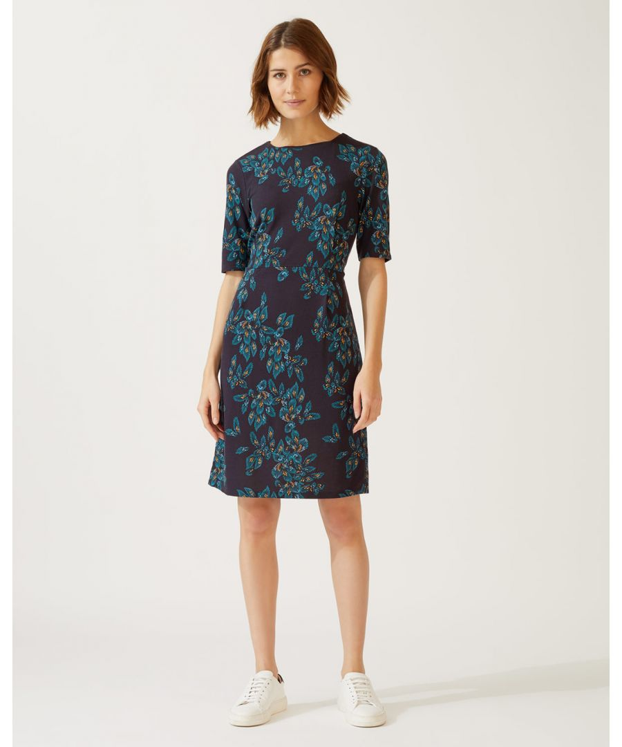 Image for Waterfall Print Jersey Dress