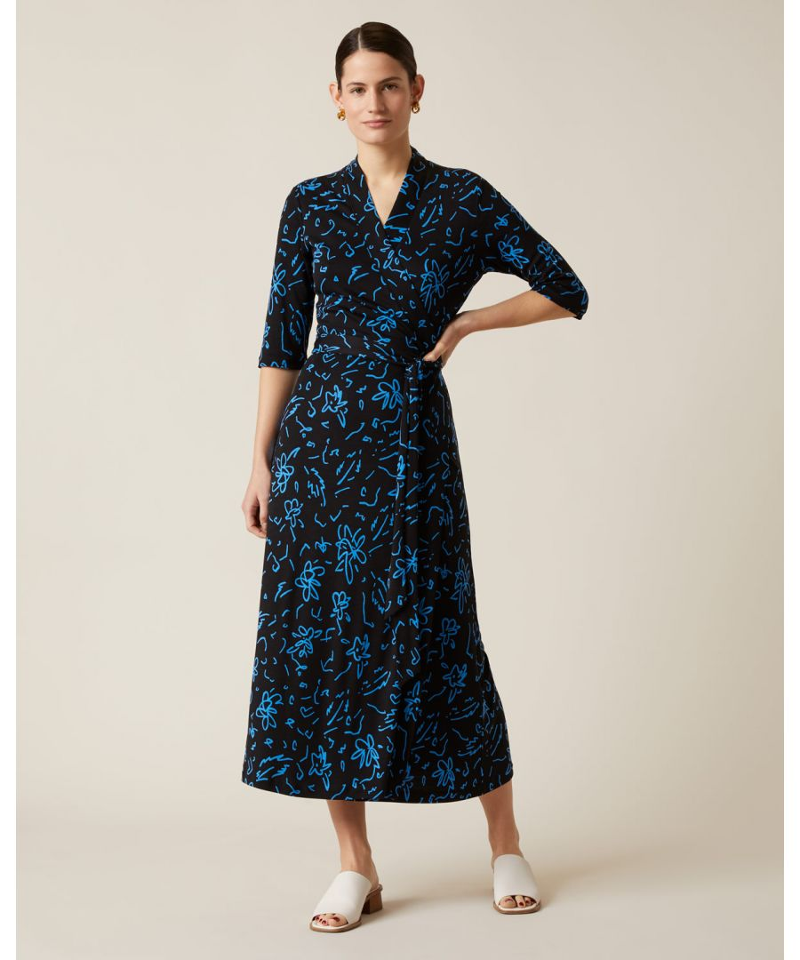Image for Scribble Print Wrap Dress