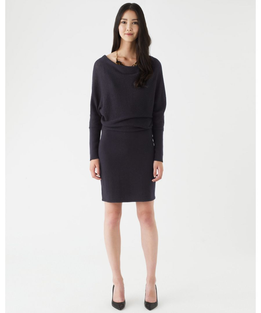 Image for Waffle Stitch Batwing Dress