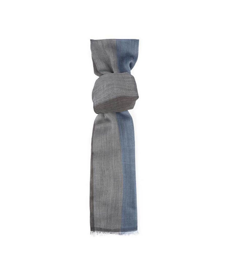 Image for Men's Hackett, Tonal Stripes Scarf in Blue