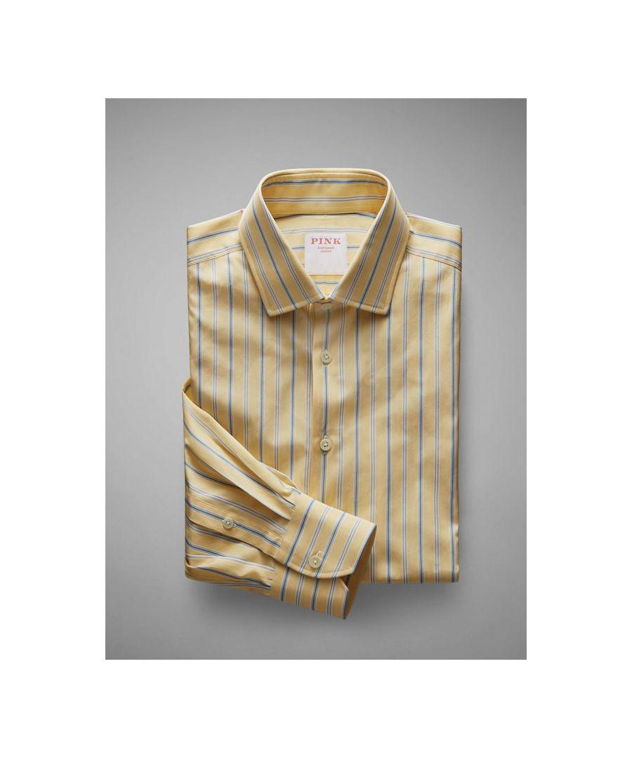 Image for Tailored Fit  Multi Stripe Poplin Button Cuff Shirt